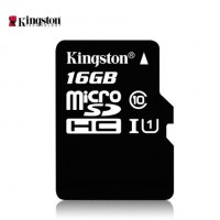 Карта памяти microSDHC 16Gb Kingston (Class 10) + Adapter SD