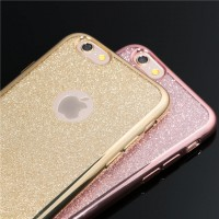 ТПУ накладка Electroplating Sparkle Series для iPhone 4 / 4S