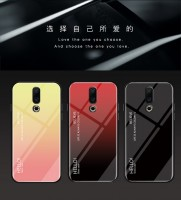 ТПУ накладка Color Glass для Meizu 16th