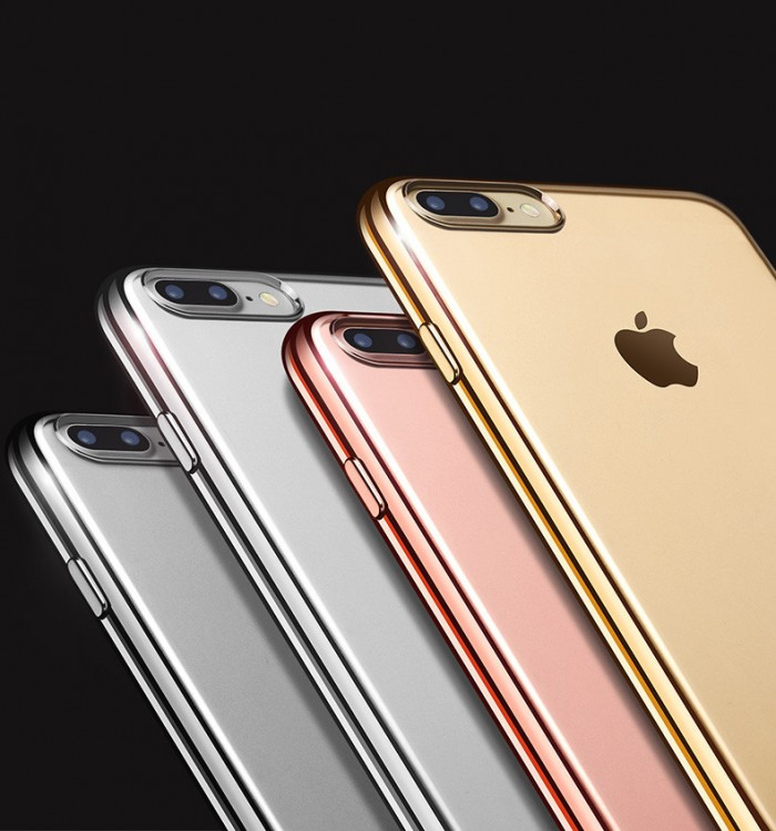 ТПУ накладка Electroplating Air Series для iPhone 7 Plus