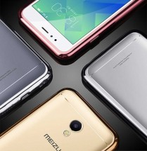 ТПУ накладка Electroplating Air Series для Meizu M5S