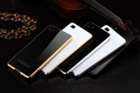 Металлический бампер Luphie with tempered glass back cover для Xiaomi Mi4c